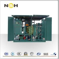 China 3000LPH Mobile Transformer Insulation Oil Purifier Single Axle Double Stage Vacuum System on sale