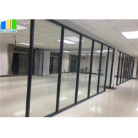 Buy cheap EBUNGE Office Partition Modular Aluminum Tempered Full Height Glass Partition from wholesalers