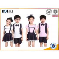 Wholesale Summer Lapel Embroidered School Uniform For Primary School Students from china suppliers