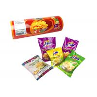 China Plastic Food Wrapping Metalized Opp Film Custom Printing Snacks Sachet Packaging Roll Film on sale
