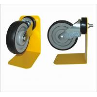 Wholesale Black Trolley Locking Caster Wheels With 1 Year Warranty , Shopping Trolley Wheels from china suppliers