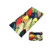 Wholesale Polyester Soft Fadeless UV Buff Headwear Seamless Breathable With Feather Logo from china suppliers