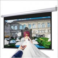 Wholesale High Gian Matte White Fabric Motorized Projector Screens from china suppliers