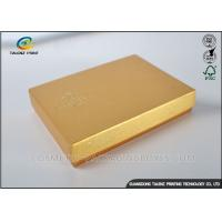China Light Weight Chocolate Gift Boxes , Cardboard Boxes With Lids Golden Covering on sale