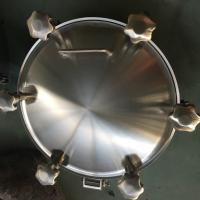 Wholesale Sanitary Stainless Steel Inwards Opening Elliptical Manways Manlids from china suppliers