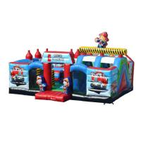 China Outdoor Blow Up Jump House  Inflatable Chopperville Play Center For Toddlers on sale