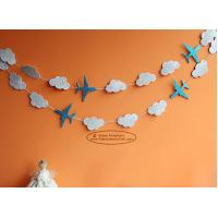 Buy cheap White Cloud Airplane Paper Garland Craft Tassel Garland Solid Color And Mixed from wholesalers