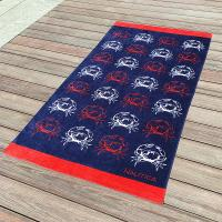 Wholesale Crab Fitted Colorful Printed Beach Towels , Microfiber Male Beach Towels from china suppliers