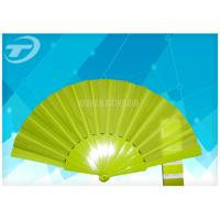 Wholesale Solid Color Fabric Personalized Folding Hand Fans With Plastic Handle from china suppliers