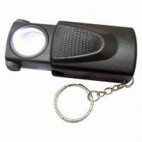 Wholesale Multi-function Push and Pull Magnifier with LED Light and Keychain, Used for Currency Detecting from china suppliers