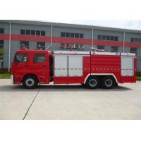 Diesel Fuel Vacuum Tanker Fire Truck 6350mm Wheelbase With Rear Mounted Pump