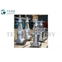 Fully Open / Close High Temperature Gate Valves With Flange End Butt Weld End