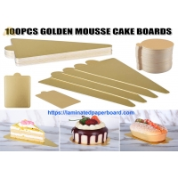 Wholesale Golden Mousse Cake Board 100PCS Packages Food Grade For Christmas Cake/ Tray from china suppliers