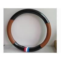 Wholesale Black And Brown Classic Automotive Steering Cover Durable And Comfortable from china suppliers