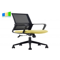 Wholesale Executive Fabric Swivel Chair Black Mid Back Mesh Office Chair Computer Desk Staff Chair from china suppliers