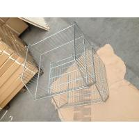 Wholesale 20L Basket Supermarket Equipment Zinc Plated Cage With Clear Lacquer from china suppliers