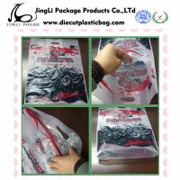 Glue Die Cut Handle store Plastic Bags resealable with Custom Logo , 100mm width