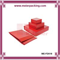 China Red Paper Nest Box, Foldable Packaging Gift Box with magnetic lid ME-FD018 on sale