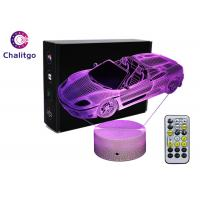 Quality Car 3D LED Illusion Lamps 7 Colors Boys Bedrooms 3 AA Battery With Timer for sale