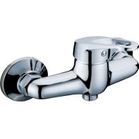 Wholesale Wall Mounted Chrome Two Hole Bathroom Faucet Shower Mixer Taps with Single Lever from china suppliers