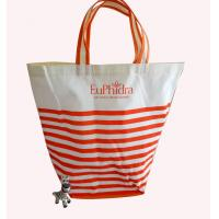 Wholesale Folded Water Proof Cotton Bag , Shopping Carry Bags Silk Screen Printing Logo from china suppliers