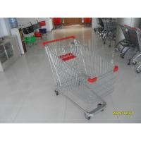 Wholesale Unfolding Steel Chrome Grocery Shopping Cart With Four Escalator Wheel from china suppliers