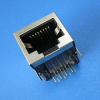 Wholesale RoHS/UL 1x1 Port, 10/100 BaseT, rj45 connector with filter from china suppliers