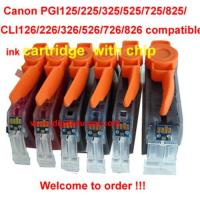 China New Ink Cartridge PGI125 CLI126 with chip for Newest Canon printer on sale