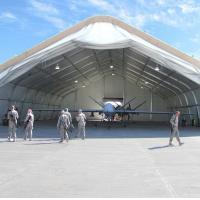 Wholesale Laminate Vinyl Curved Tent Rotproof Span Size 20m Military Use from china suppliers