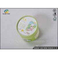 China Small Round Packaging Paper Tube Cardboard Storage Can With Logo Printing on sale