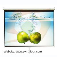 Buy cheap Matte White Fabric Manual Projector Screens 1.5mx1.5m from wholesalers