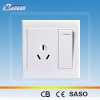 Wholesale LK4011 1gang 3pin PC flush type wall socket from china suppliers