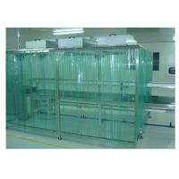 China EBM Fan Pharma Clean Room Booth Anti - Static Dust Proof Curtain on sale
