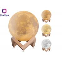 Wholesale 3D Printing Moon Globe Light 5.9 Inch Glowing Moon Lamp Tap Change 3 Colors from china suppliers