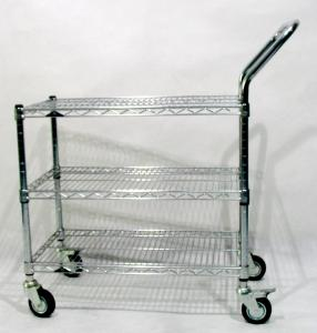 """Wholesale 200KG Load 3"""" Casters Anti Static ESD Chrome mesh trolley from china suppliers"""