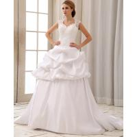 Romantic lace cap sleeve halter neck wedding dresses with for Wedding dress heart shaped neckline