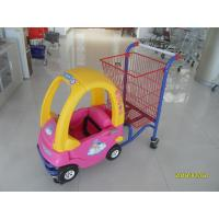 Wholesale Red And Yellow Childrens Shopping Trolley  With Rear Basket And 4 Swivel Flat Caster from china suppliers