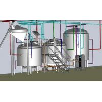Wholesale Electrical / Steam Mini Microbrewery Equipment , 3 Phase Brewpub Equipment from china suppliers
