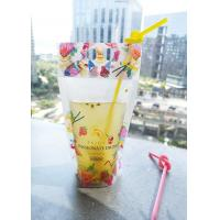 China Resealable Bag Plastic Zip Lock Stand Up Pouches for Drinks with Handle Holes on Top on sale