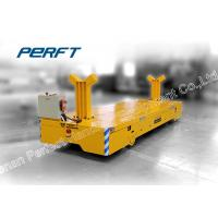 China Electric Die Transfer Cart For Train Shipment Cargo Transport , Yellow Color on sale