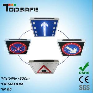 Wholesale Aluminum Flashing Solar LED Traffic Warning Signage from china suppliers