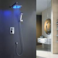 Wholesale Wall-Mounted LED Shower Faucet with 8 inch Shower Head + Hand Shower TSF006 from china suppliers