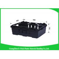 China Reusable Stacking Storage Boxes , Household Small Plastic Crates For Logistic on sale