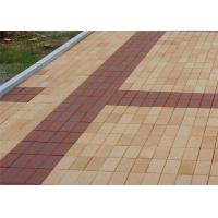 China Low Water Absorption Outdoor Wood Floor Tiles , Thin Brick Pavers For Garden / Landscape on sale