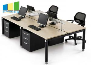Wholesale Commercial 4 Seat Cubicle Desk Modern Table Modular Office Workstation Cabinet Office Furniture from china suppliers