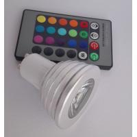 Wholesale RGB 3 W GU10 LED Spotlight Remote Control 16 Colors Beam Angle 30° from china suppliers