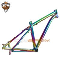 Wholesale Rainbow Titanium MTB Frame PVD Anoxide Electric Plating 27.5 Mountain Bike Frame from china suppliers