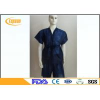 Wholesale Blue Non Woven Disposable SPA Sauna Bathrobes , Kimono Sauna Suit Gown For SPA from china suppliers