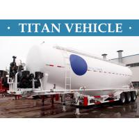 Wholesale V / W Type Cement Trailer , Truck Powder Bulk Cement Tank Semi Trailer from china suppliers