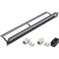 Wholesale 24 Port Blank Keystone Network Patch Panel with Cable Manager Wall Mount from china suppliers